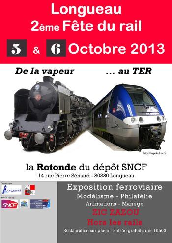 Exposition train réel et objets historique SNCF Longueau 5 et 6 octobre 2013 Affiche_2013_350